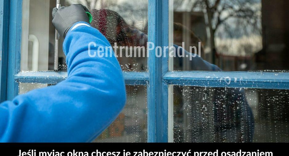 Jak umyć okna`