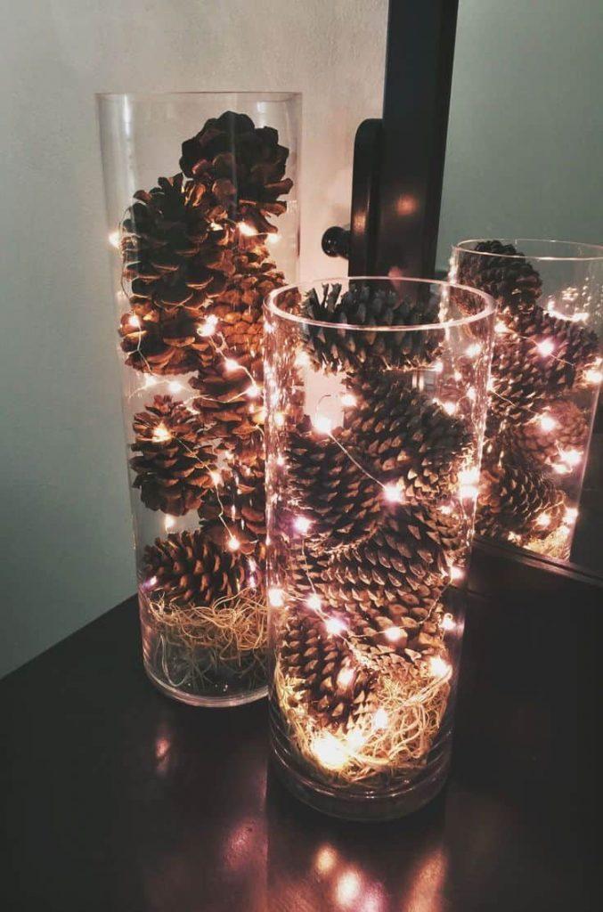 Ozdoby na Święta z lampek led