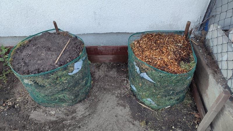 Ogród warzywny pod balkonem przed zmianą
